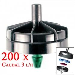 Gotero Autocompensante Antidrenante 3 l/h Seta. 200 unidades