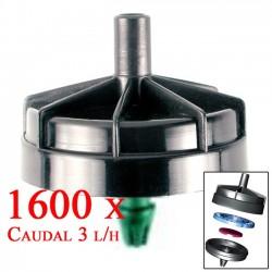 Gotero Autocompensante Antidrenante 3 l/h Seta. 1600 unidades