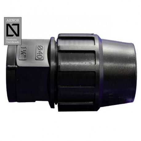 Enlace rosca Hembra PE 32mm