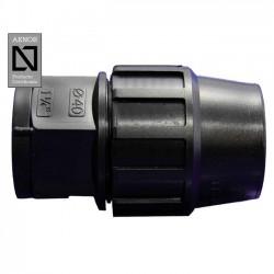 Enlace rosca Hembra PE 40mm