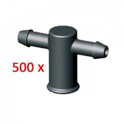Adaptador 2 salidas para goteros. 500 unidades