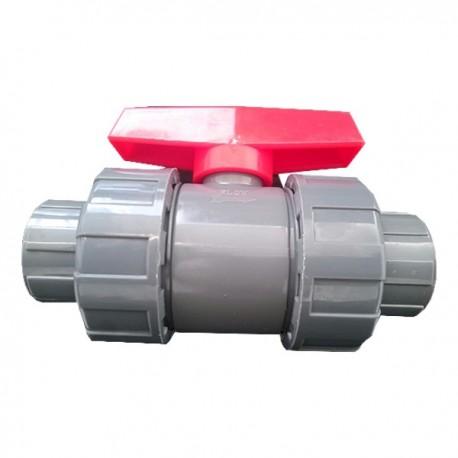 "Válvula de esfera PVC de roscar 40mm 1-1-4"""