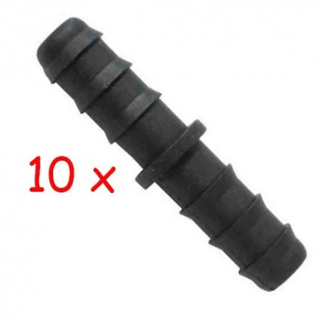 Pack 10 x Enlace 16mm goteo negro