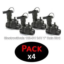 """Electroválvula 100-DV 24V 1"""" Rain Bird (Pack de 4 Unidades)"""