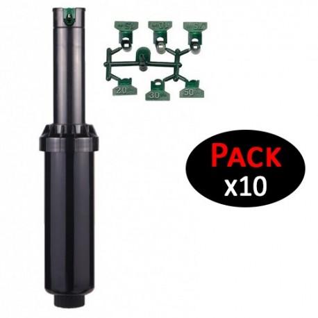 """Aspersor Hunter SRM-04. Alcance 4,00 a 9,40mts. Rosca 1/2"""" hembra (pack de 10 unidades)"""