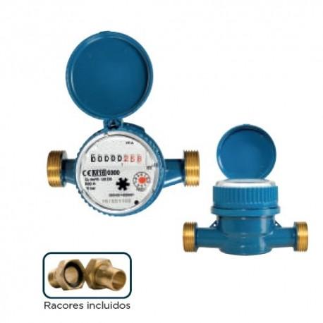 Contador agua 15mm de chorro único esfera seca