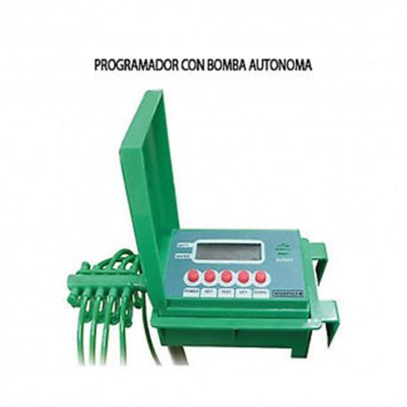 Programador a pilas con bomba para plantas automatico