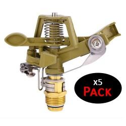 """Aspersor de zinc ajustable 1/2"""" (Pack de 5 unidades)"""