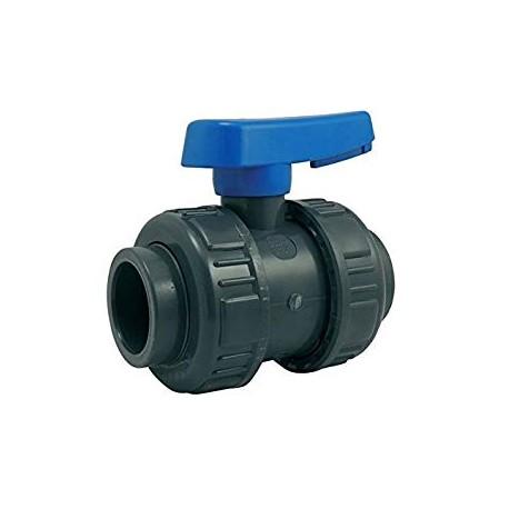 Válvula de bola de encolar 50 mm para PVC