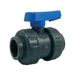 Válvula de bola de encolar 40 mm para PVC