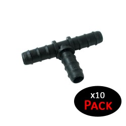 Te 16mm goteo negro (Pack x 10)
