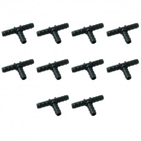 Te 20mm goteo negro (Pack x 10)