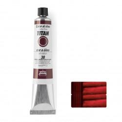 Titan oleo extrafino 38 carmin garanza solido claro 60ml.