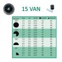 Tobera difusores 15 VAN. Alcance 4,50 mts
