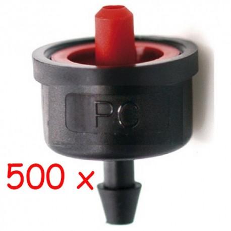 Pack 500 x Gotero Autocompensante 7,8 l/h iDROP