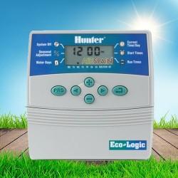 Programador eléctrico Eco Logic 6 estaciones Interior Hunter